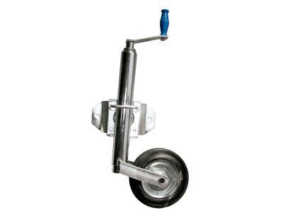 Rueda timonera regulable rebatible rueda chapa.