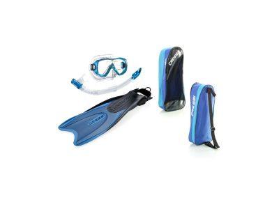 Set Mascara, snorkel y aletas palau bag aleta corta Talle  S/M