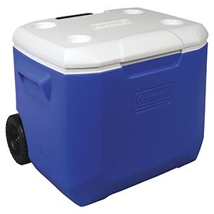 Conservadora 60 QT 56.8 Litros Azul con Ruedas y Posavasos