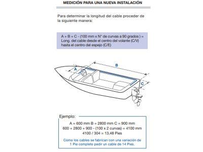 Cable de dirección para fvc 3000 de 11 pies Fayva