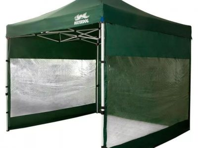 Gazebo Expo 3×3 paredes transparentes Waterdog
