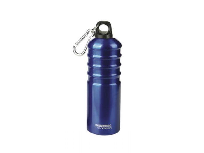 Botella aluminio 750 cc  c/mosquetón Waterdog