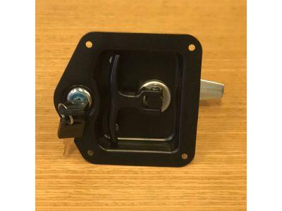 Cerradura con llave para baulera con manija embutida