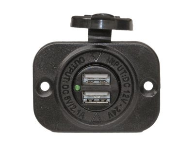 Enchufe/Cargador 12-24V con Doble USB Five Oceans