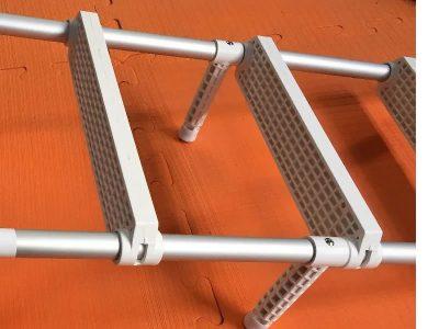 Escalera para colgar aluminio 3 escalones plást. Lalizas