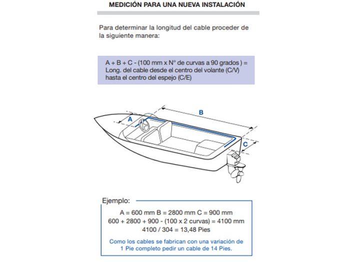Cable de direccion para fvc 1000 de 13 pies Fayva