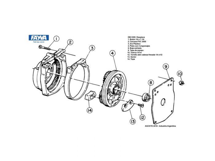 Mecanismo simple fvc 3000 Fayva