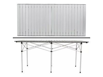 Mesa plegable 100% aluminio 140x70x70 cm