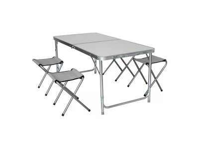 Mesa plegable aluminio 4 banquitos Snowbumps