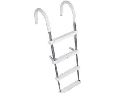 Escalera para colgar aluminio 4 escalones plást. Lalizas
