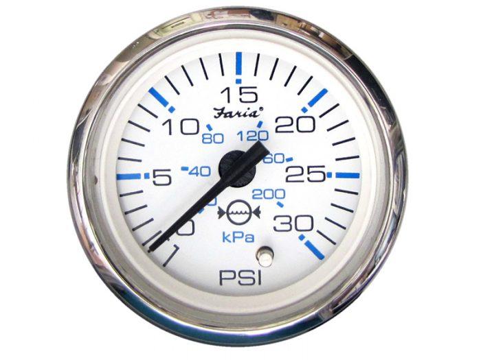 Indicador presión de agua aro cromado Faria