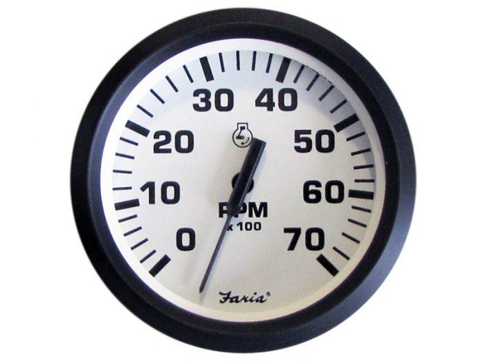 Indicador tacómetro 7000 rpm aro negro Faria