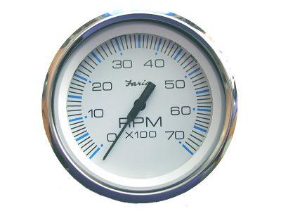 Indicador Tacómetro 7000 rpm aro cromado Faria