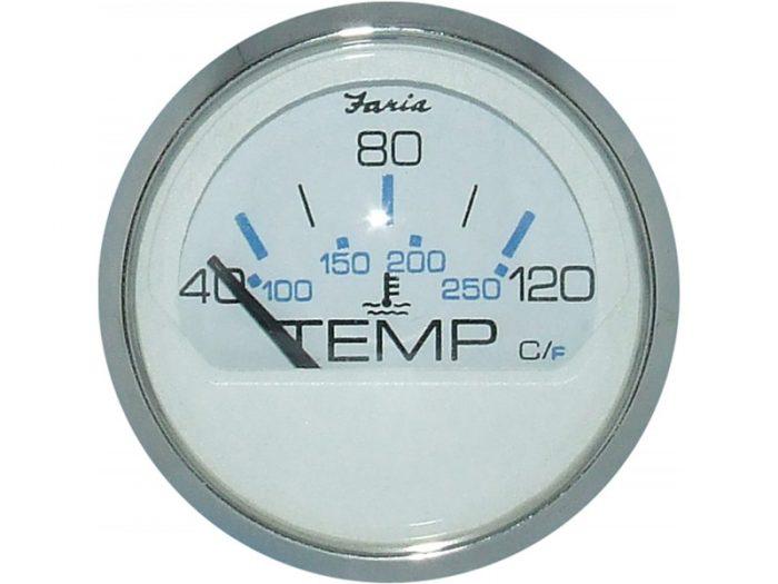 Indicador temperatura de agua aro cromado Faria