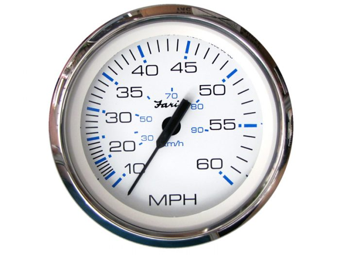 Indicador velocímetro 90 km/h aro cromado Faria