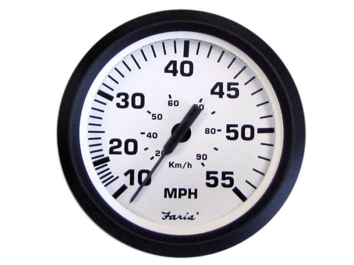 Indicador velocímetro 90 km/h aro negro Faria