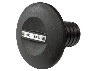 Tapa para tanque diesel 38mm- 1 1/2″ ABS negra Five Oceans