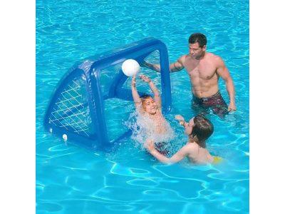 Arco de futbol / waterpolo con pelota y pesas Intex