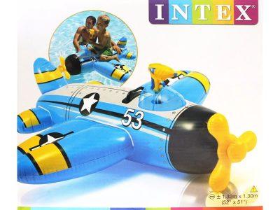 Avión inflable con pistola de agua Intex