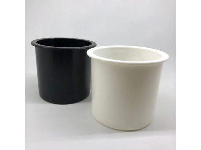 Posavaso para embutir plástico negro