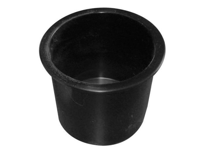 Posavaso para embutir plástico negro Herrcarr